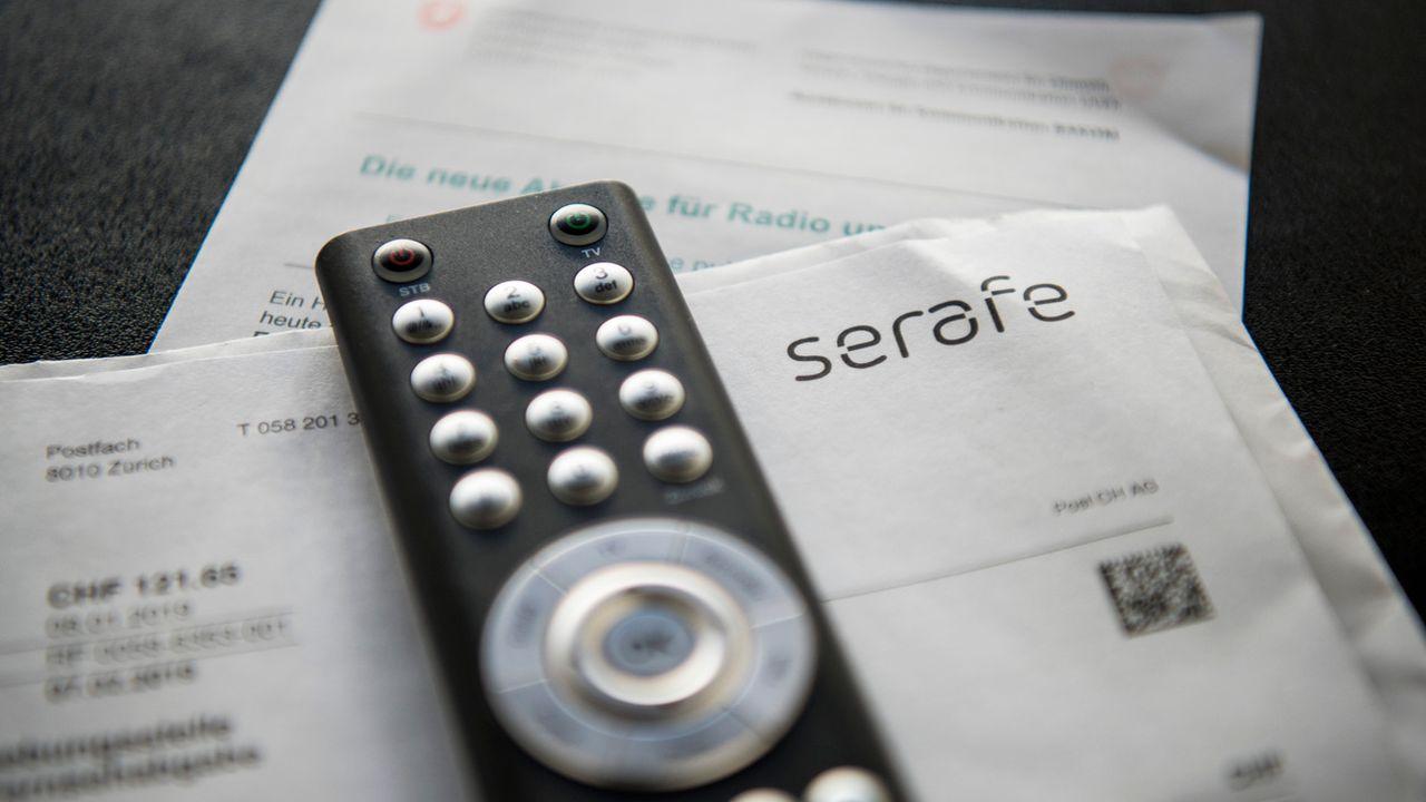 La compagnie Serafe a assuré la transition de Billag pour percevoir la redevance de radio-TV. [Christian Beutler - Keystone]
