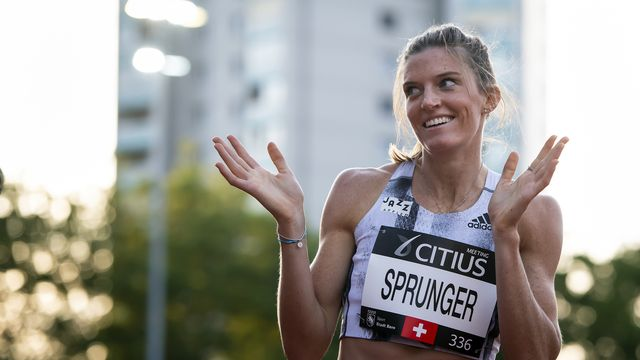 Lea Sprunger s'est illustrée lors du 400m plat. [Anthony Anex - Keystone]