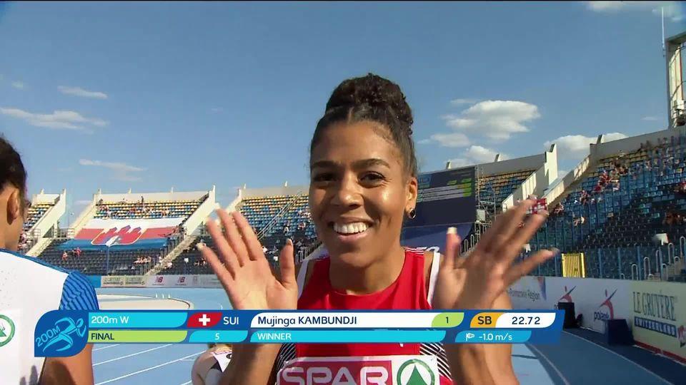 Bydgoszcz (POL), 200m dames: Kambundji (SUI) gagne sa course [RTS]