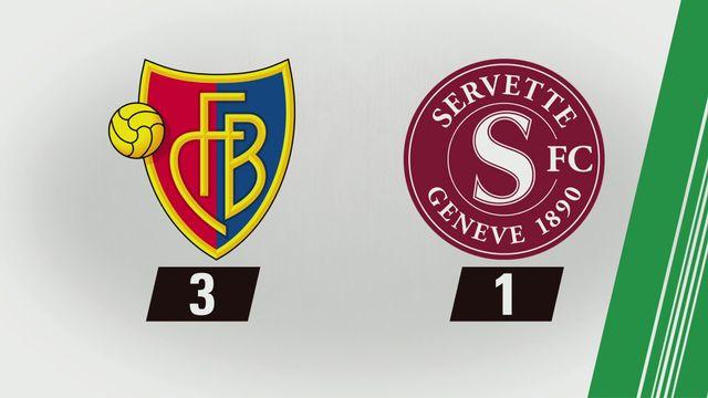 Tous les buts: Bâle - Servette (3-1) [RTS]
