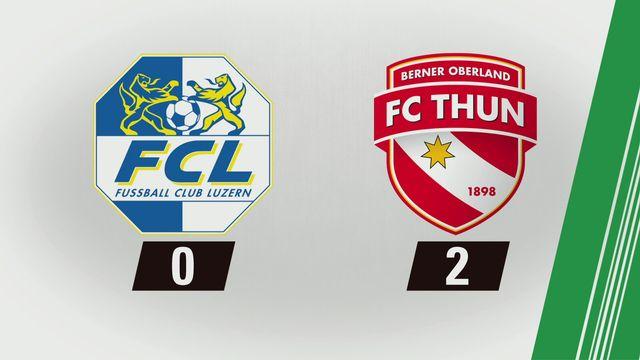 Tous les buts: Lucerne - Thoune (0-2) [RTS]