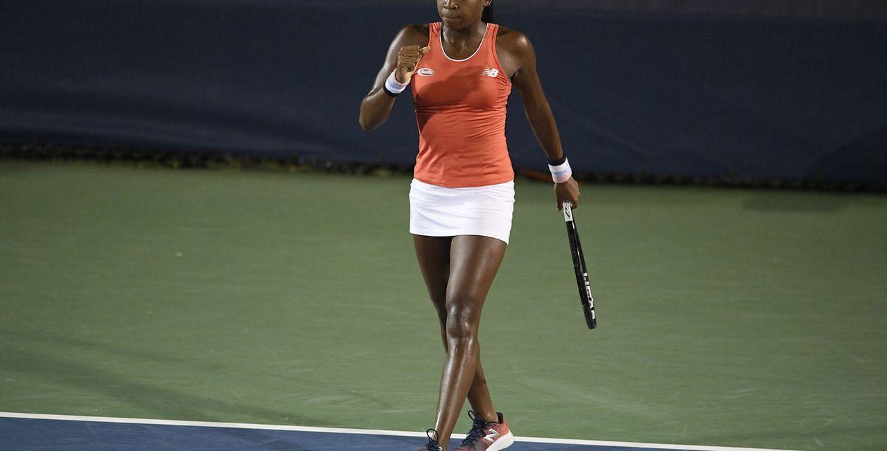 """Cori Gauff a le poing serré. Elle peut se réjouir de disputer son premier US Open chez les """"grandes"""". [AP]"""
