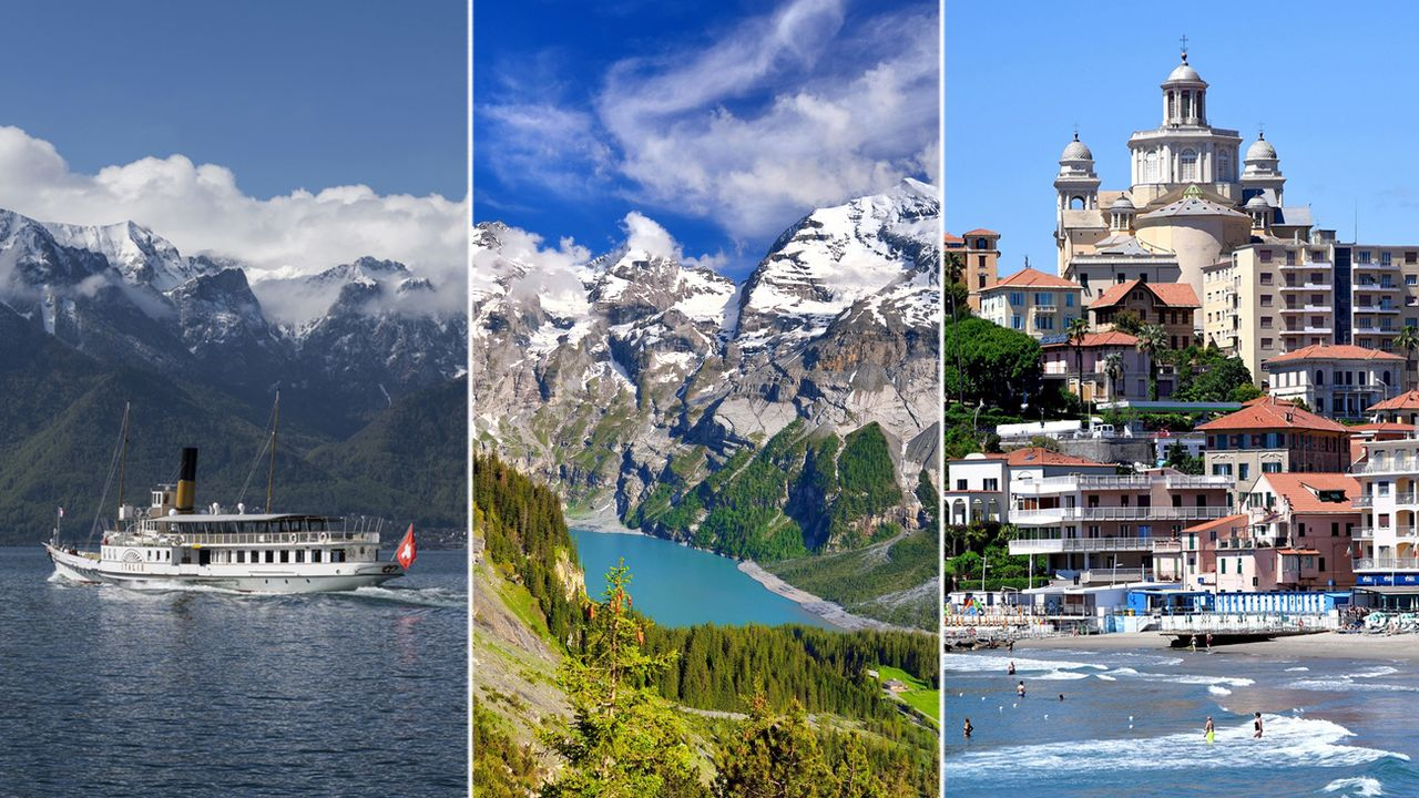 Les vacances des parlementaires fédéraux, entre lac, montagne et mer. [Keystone]