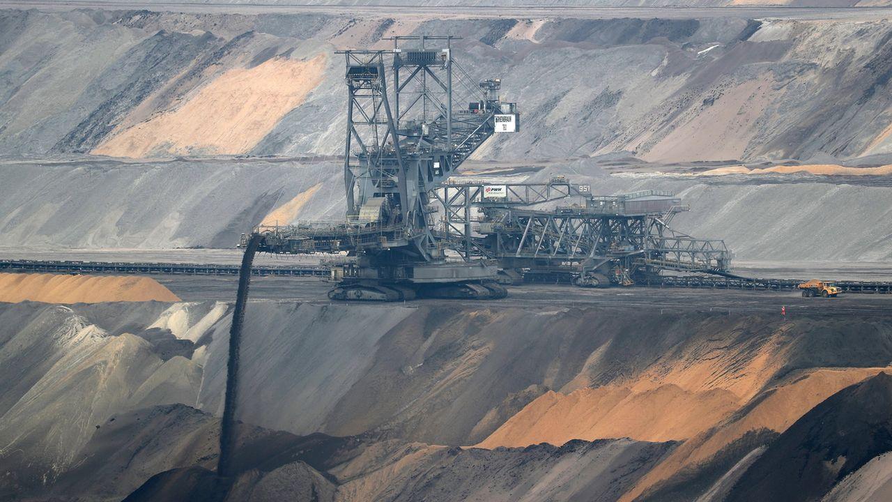 Une mine de charbon à Erkelenz, dans le Land de Rhénanie-du-Nord-Westphalie, près de Cologne. [Friedemann Vogel - EPA/Keystone]