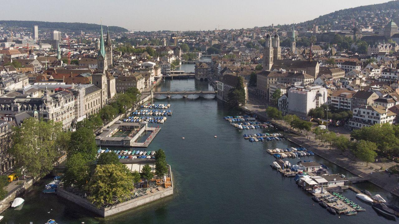 Une vue de la ville de Zurich. [Christian Beutler - Keystone]