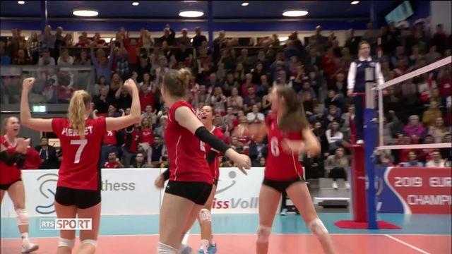 Volleyball, championnats d'Europe: première participation de l'équipe de Suisse féminine [RTS]