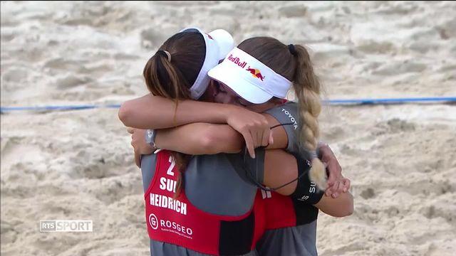 Beachvolley: la paire Heidrich-Vergé-Dépré s'impose à Moscou en finale [RTS]