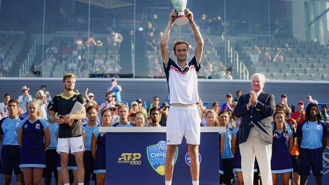 Le russe Daniil Medveded, vainqueur du tournoi de tennis des Masters de Cincinnati [John Minchillo - AP/Keystone]