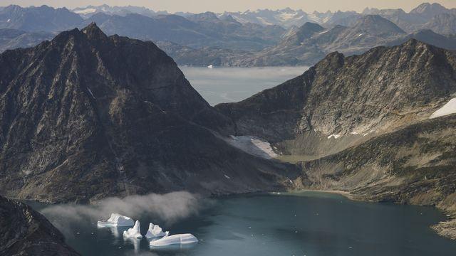Une vue aérienne prise au Groenland le 14 août 2019. [Mstyslav Chernov - Keystone]