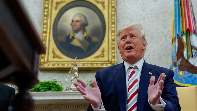 Donald Trump se dit en faveur d'un retour du G8 avec la Russie. [Kevin Lamarque - Reuters]