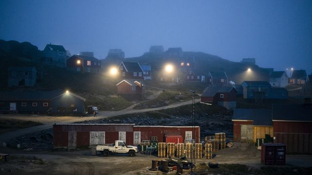 Le port de Jakobshavn, au Groenland. [Bryan and Cherry Alexander - KEYSTONE/]