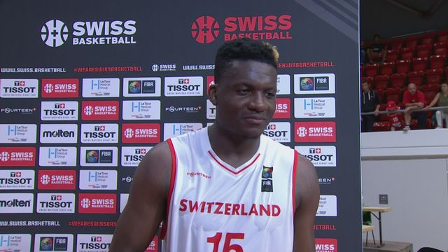 Pré-qualification, Suisse - Islande 109-85: interview d'après match de Clint Capela [RTS]