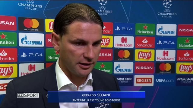 Barrage aller, Young Boys - ER Belgrade (2-2): Gerardo Seoane (Young Boys) à interview d'après match [RTS]
