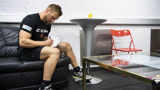 Scherwey lors de la préparation estivale avec le CP Berne en juin dernier. [Anthony Anex - KEYSTONE]