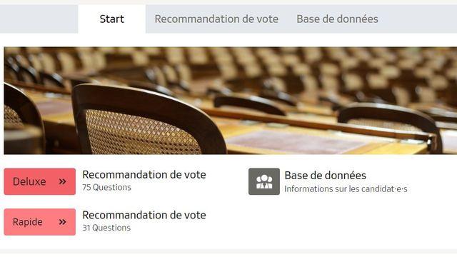 Smartvote, l'outil d'aide au vote pour les élections fédérales. [RTS]