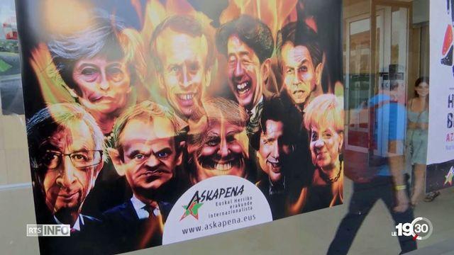 Durant trois jours, 80 organisations prennent le contre-pied du G7 à Hendaye. [RTS]