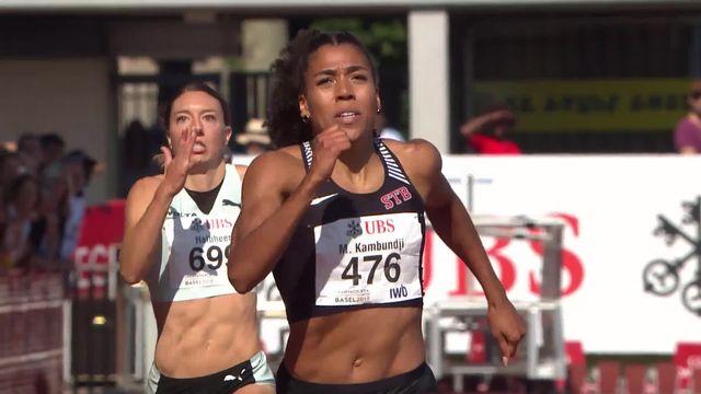 Bâle (SUI), 200m dames: titrée en 22.26, Mujinga Kambundji s'offre le record de Suisse [RTS]