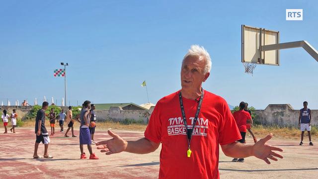 Massimo Antonelli est l'un des co-fondateurs du projet Tam Tam Basketball. [RTS]
