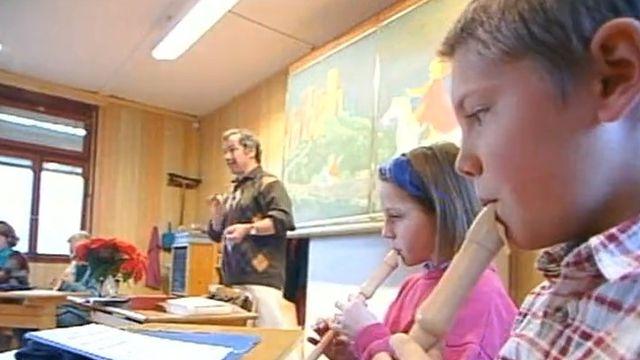 A l'école Steiner de Crissier en 1999 [RTS]