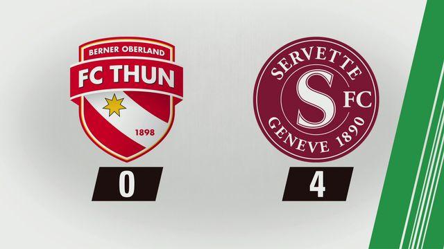 Tous les buts: Thoune - Servette (0-4) [RTS]