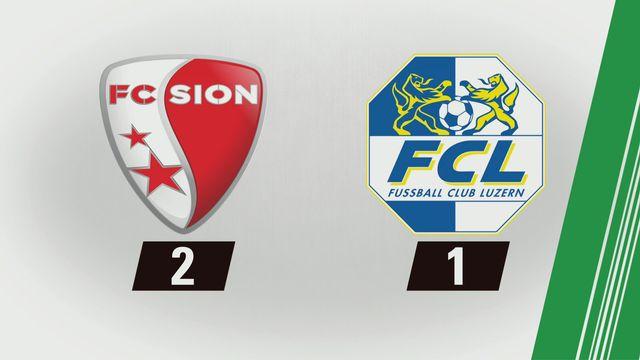 Tous les buts: Sion - Lucerne (2-1) [RTS]