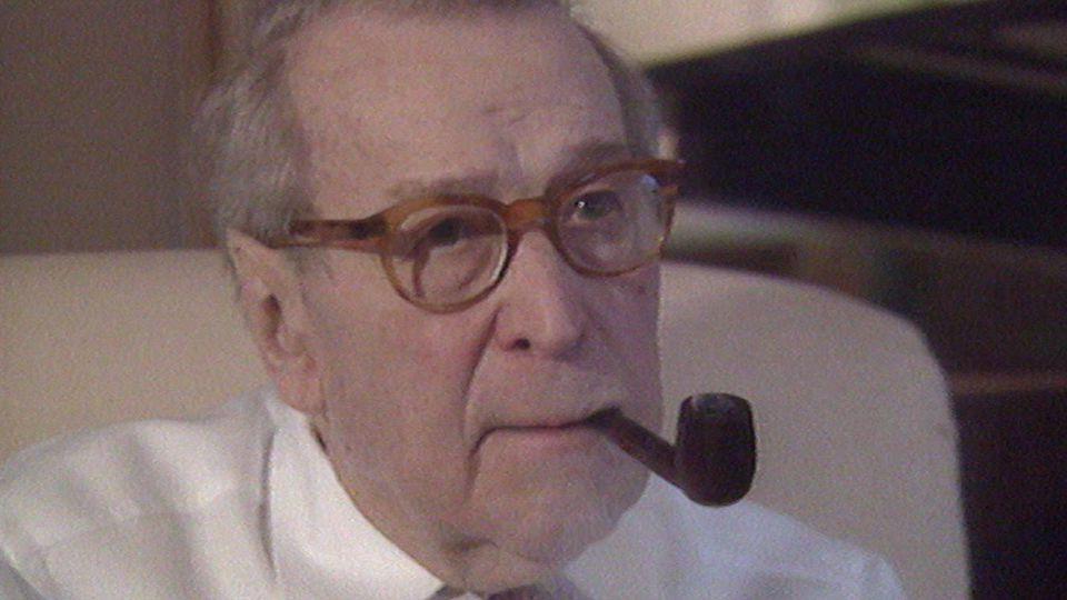 Georges Simenon en 1989. [RTS]