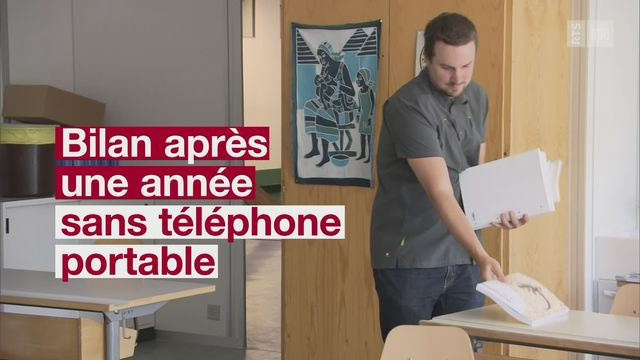 Exit les téléphones portables à la rentrée [RTS]