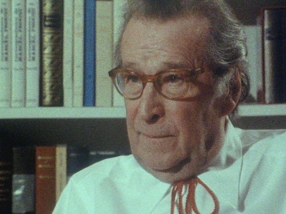 Georges Simenon en 1982. [RTS]