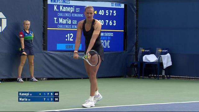 1er tour, K.Kanepi (EST) - T.Maria (ALL) (5-7, 7-6, 6-3): Kanepi revient de nulle part et passe au second tour [RTS]