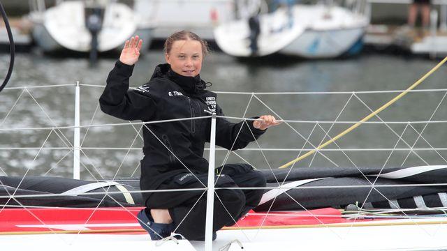 Greta Thunberg est arrivée à New York après 15 jours de traversée de l'Atlantique. [(AP Photo/Mary Altaffer - Keystone]