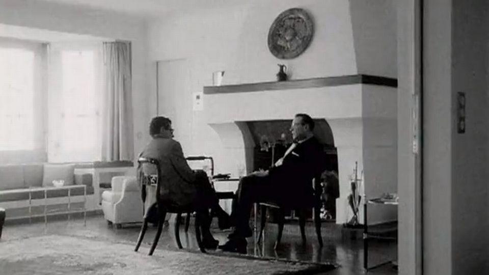 La maison de Georges Simenon en 1967. [RTS]
