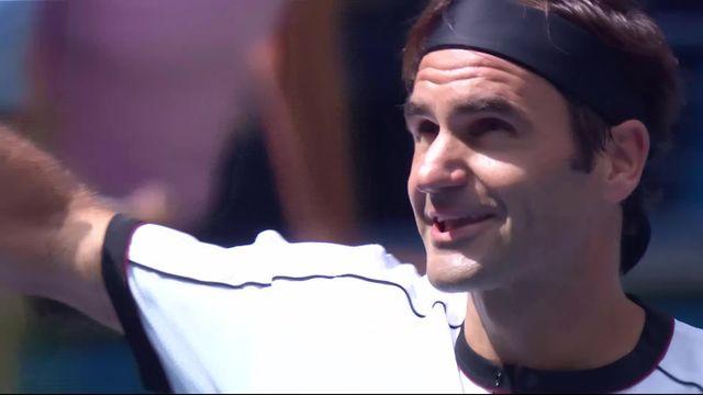 1-8, R. Federer (SUI) - D. Goffin (BEL) (6-2 6-2 6-0): le Bâlois accède aisément à la suite du tournoi [RTS]