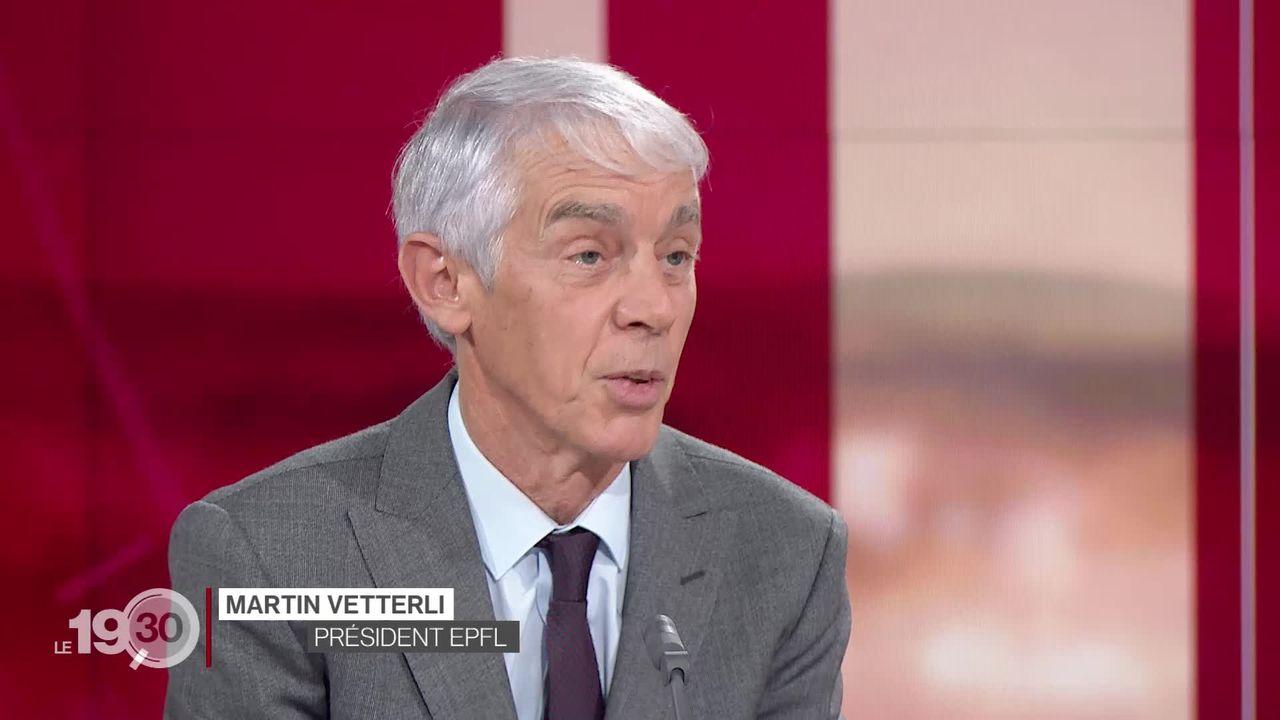Entretien avec Martin Vetterli, président de l'EPFL, l'une des écoles les mieux classées du monde. [RTS]