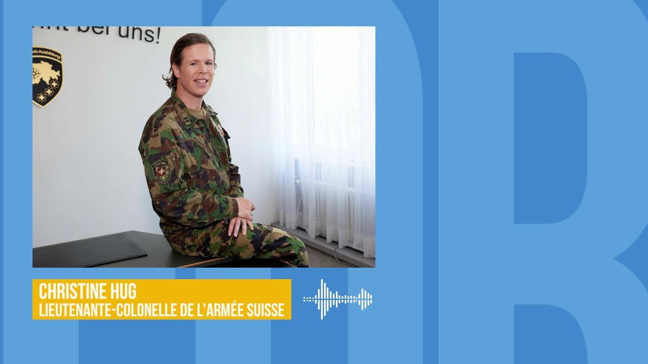 Le témoignage de Christine Hug, première haut gradée transgenre de l'armée suisse [RTS]