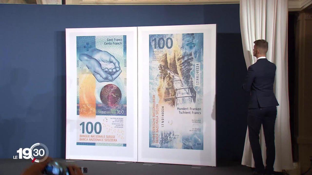 Le nouveau billet de 100.- met en valeur le bisse d'Ayent, en Valais [RTS]