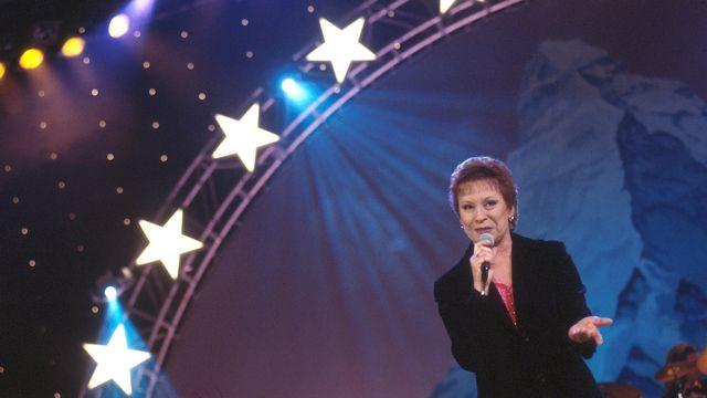 La chanteuse Arlette Zola en 1998. [RTS]