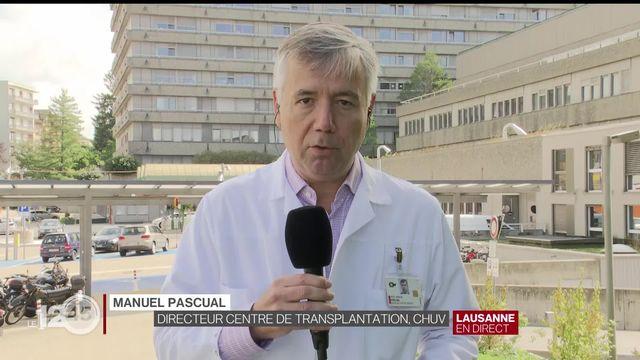 Le Pr. Manuel Pascual, directeur du Centre de transplantation du CHUV, revient sur la situation du don d'organes en Suisse [RTS]