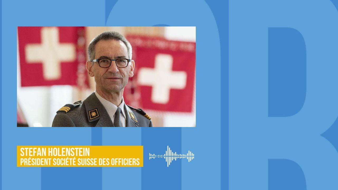 Le financement des nouveaux avions de combat agite la société suisse des officiers : interview de Stefan Holenstein [RTS]