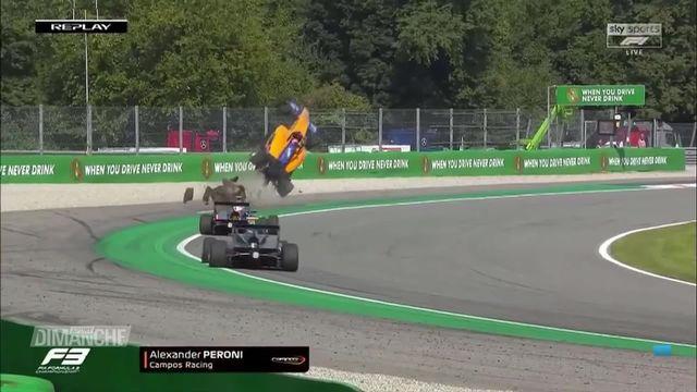 Formule 3: l'accident spectaculaire d'Alex Peroni (ITA) [RTS]