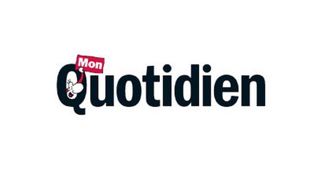 """Le logo du journal """"Mon quotidien"""". [monquotidien.fr - playBac Presse]"""