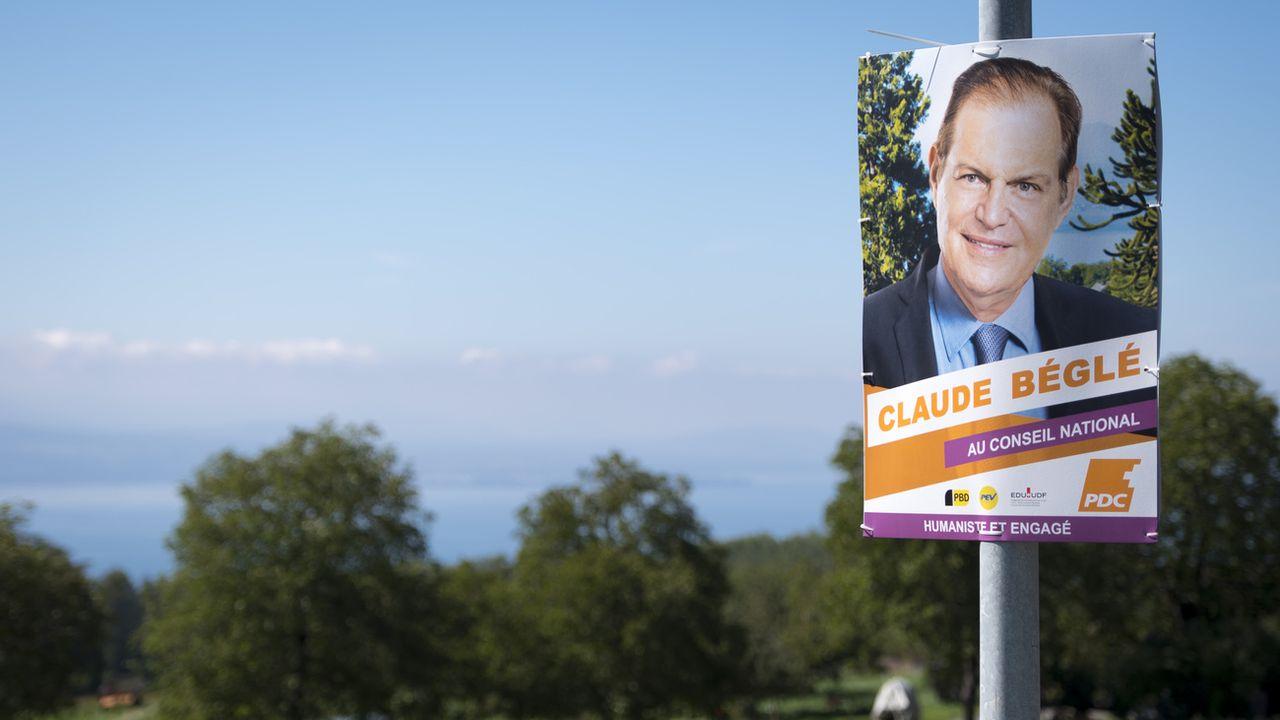 Claude Béglé est la tête de liste du PDC vaudois pour les élections fédérales. [Laurent Gilliéron - Keystone]