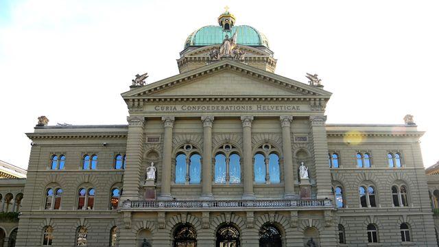 Le Palais du Parlement fédéral à Berne. [Marie-Dominique Schenk - RTS]