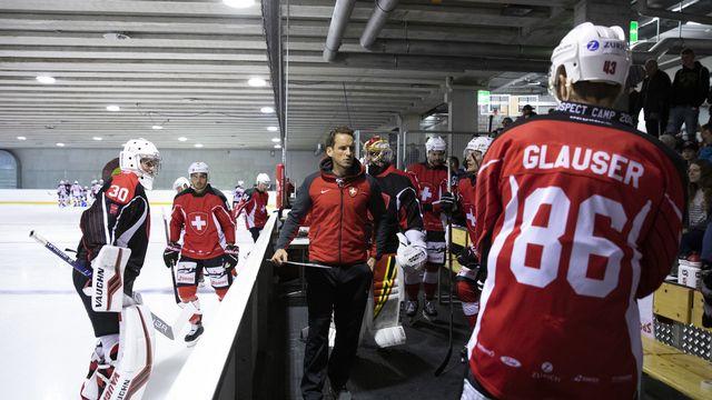 L'équipe de Suisse affrontera en décembre à Viège notamment la Norvège. [Peter Klaunzer - Keystone]