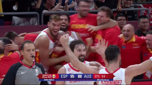 1-2, Espagne – Australie (95-88): après deux prolongations, l'Espagne se qualifie pour la finale! [RTS]