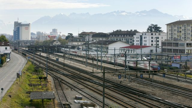 La gare de Renens dans l'Ouest lausannois.  [GAETAN BALLY  - keystone ]