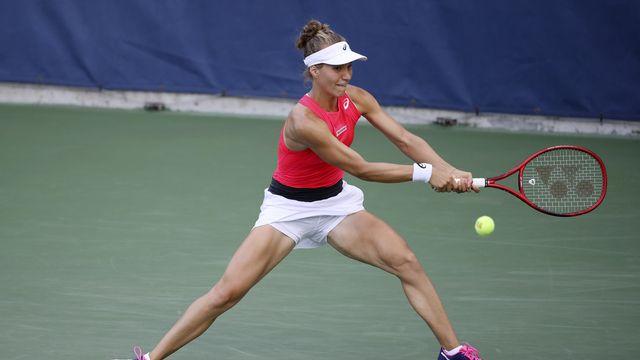 """Au bout d'une partie """"riche"""" de 20 breaks, Viktorija Golubic a manqué l'occasion de vivre une demi-finale WTA cette saison."""