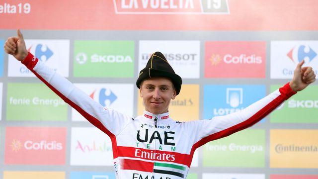 Tadej Pogacar, véritable révélation de ce Tour d'Espagne, a remporté une nouvelle étape avec un panache certain. Chapeau! [KEYSTONE]