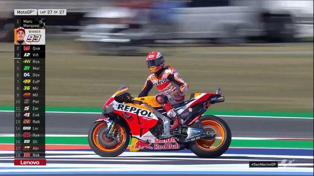 GP de Saint-Marin (#13), MotoGP: nouvelle victoire pour Marc Marquez (ESP) [RTS]