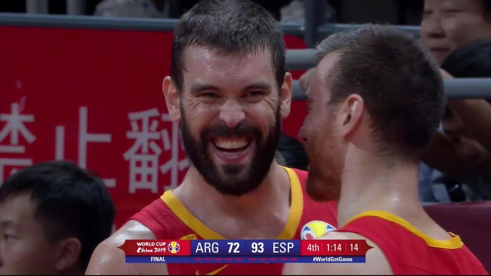 Finale, Espagne – Argentine (95-75): l'Espagne écrase l'Argentine et remporte son second titre mondial! [RTS]