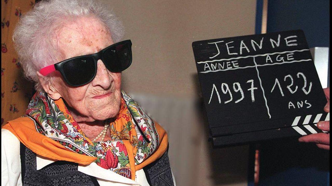 Décédée à l'âge de 122 ans et 165 jours, Jeanne Calment reste la doyenne de l'humanité. [Georges Gobet - Keystone]